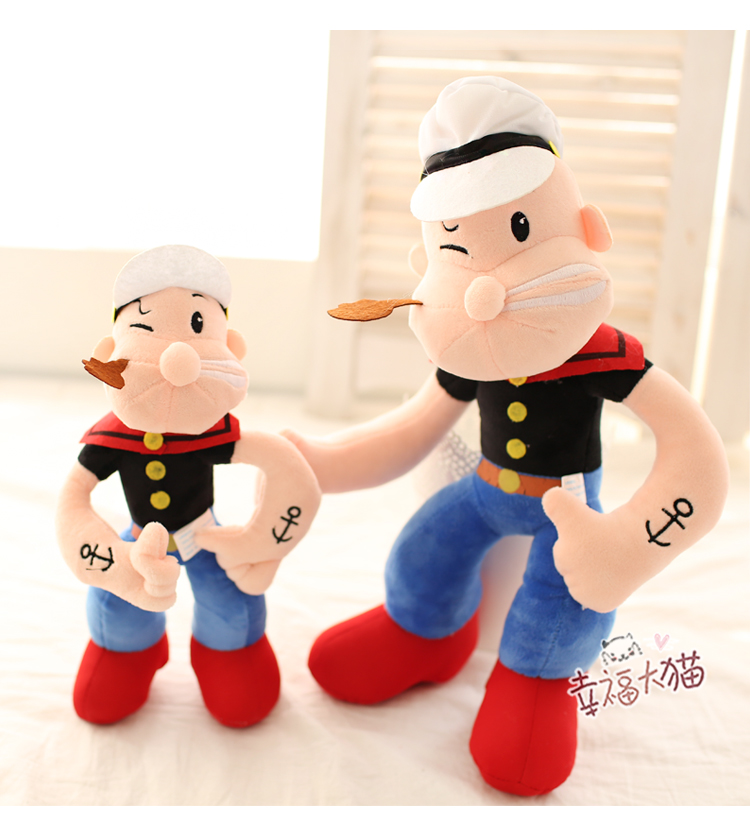 1pc 35cm 55cm super man popeye funny plush doll personality pillow novelty romantic girl stuffed toy