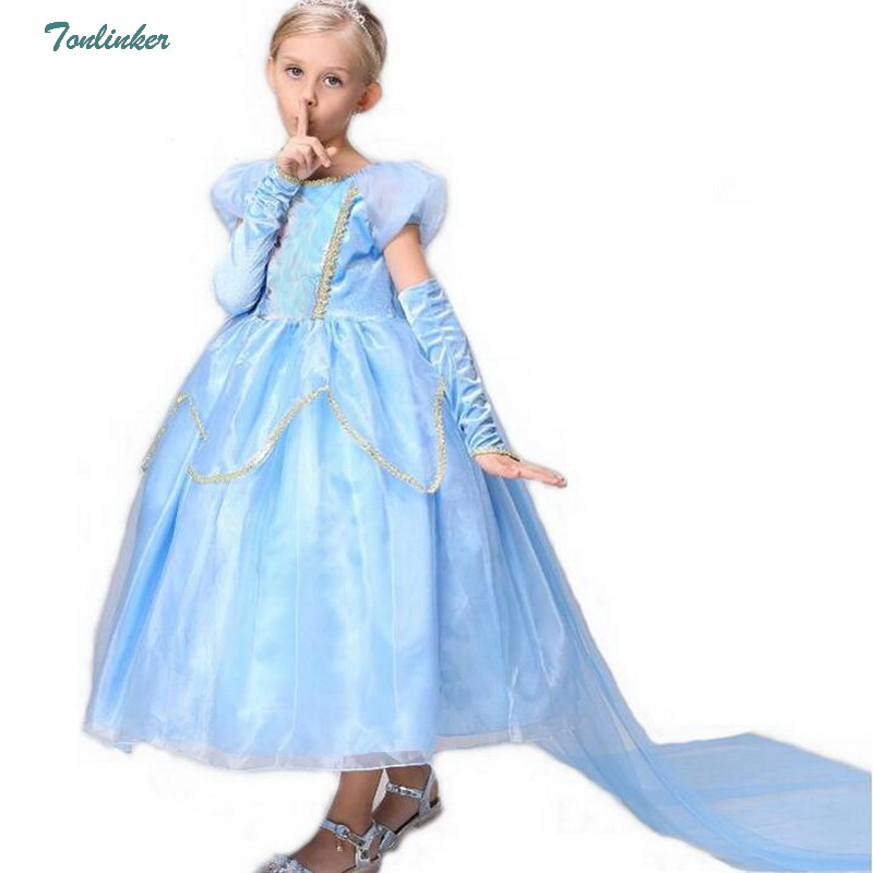 Baby Girls New Summer Princess Elsa Dresses for Halloween Birthday Party Vestidos Menina Dress Christmas Elsa Cosplay Costume