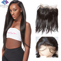 360 Lace Frontal Band Pre Plucked Brazilian Virgin Hair 360 Lace Frontal Straight Full Custom Lace Frontals With Baby Hair