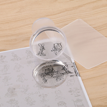 YZHJK  4cm XXL Clear Silicone Marshmallow Jelly Nail Stamper with Cap Art & Scraper # YZ1144126497