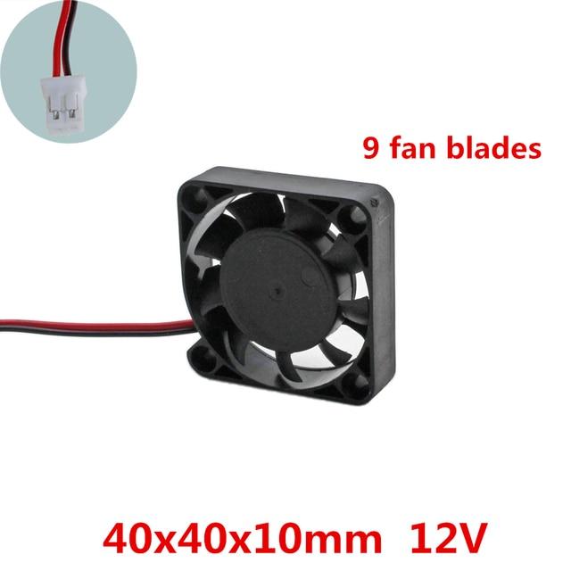 3pcs/lot 40x40x10mm 4010  fans 9 fan blade 12 Volt Brushless DC Fans cooling fan radiator for Electronic Computer Case