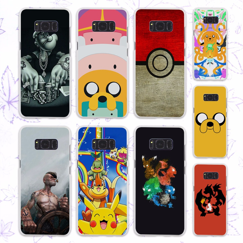 Popular Adventure Time pokeballs popeyes anime design hard White Case for Samsung Galaxy S8 Plus S8 s6 s7 edge s4 s5 mini note 5