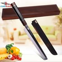 FINDKING 11 inch Octagonal Ebony Wood Handle SKD11 Damascus Steel Sakimaru Knife 67 layers Damascus Kitchen Chef Knife