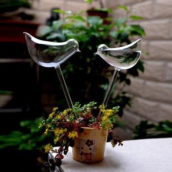 Творческий высокий птица ваза стеклянная ваза украшения дома отель украшения цветок контейнеры - Цвет: one pc