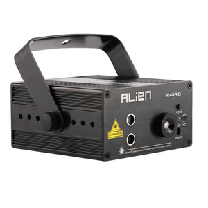 Image 2 - الغريبة RG 3 عدسة 48 أنماط خلط جهاز عرض ليزر المرحلة الإضاءة تأثير الأزرق LED أضواء للمسرح تظهر ديسكو DJ إضاءة حفلات