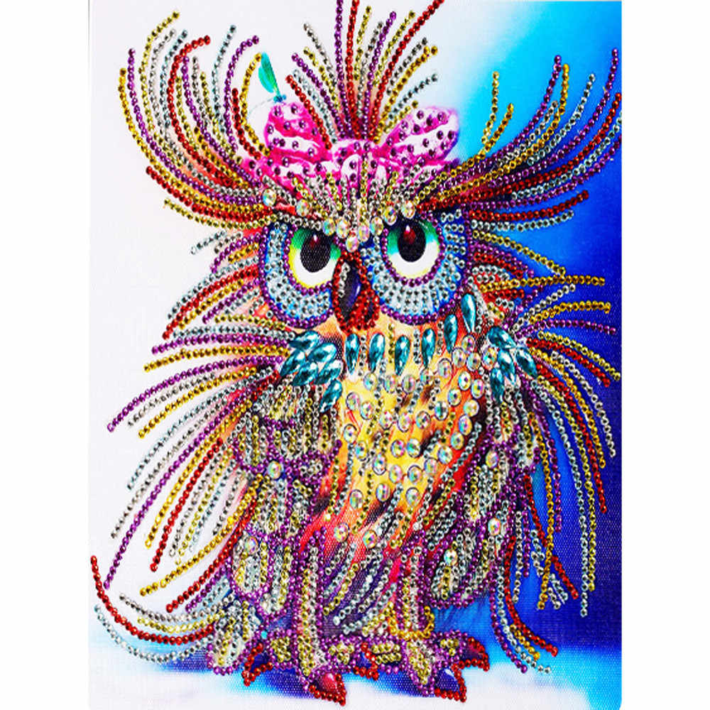 Hot Owl Diamond Painting DIY 5D  Diamond Cross Stitch Kit Creative Crystal Rhinestone Picture Series Diamond Embroidery Crafts
