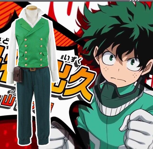 Cosplaydiy Custom Made My Hero Academia 2 Boku no Hero Akademia Izuku  Midoriya Cosplay Costume Deku Fighting Suit L320-in Anime Costumes from  Novelty