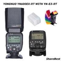 YONGNUO YN600EX RT II Wireless HSS Master Flash for Canon Camera as 600EX RT + YN E3 RT TTL flash trigger + filter + diffuser