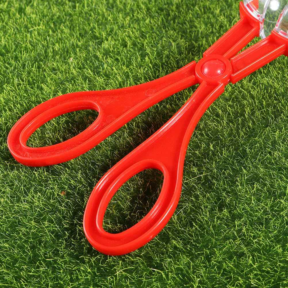 6pcs פלסטיק באג לוכד מספריים שימושי Scoopers באג מלקחי חרקים לתפוס מהדק צעצועים לילדים פעוט ילדים