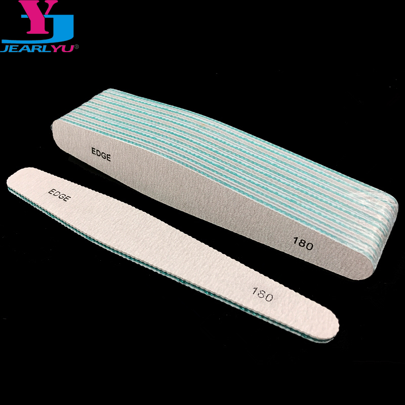 10 Pcs Drop Style Nail File 180/180 Strong Lima Buffer Buffing Files Nail Accessories Tools Broca Unhas Professional Nails File