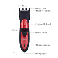 Pro Electronic Hair Clipper Rechargeable Hair Trimmer Hair Cutting Machine To Haircut Beard Trimer Waterproof Hair