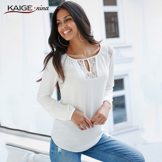 2017 Hot Sale Plus Size Women Sexy T-shirt High-Quality Solid Color Long Sleeves Fashion Leisure Personality Chiffon shirt 1825