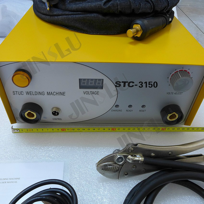 Stud Welder Welding Machine STC-3150 110V Capacitor Discharge With Stud Welding Torch 320pc capacitor discharge welding studs ws 320