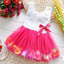 Summer 2019 New Baby Girls Kids Dress Flower Chiffon Princess Sleeveless Beautiful Mini Tutu Dress Newborn Infant Dresses