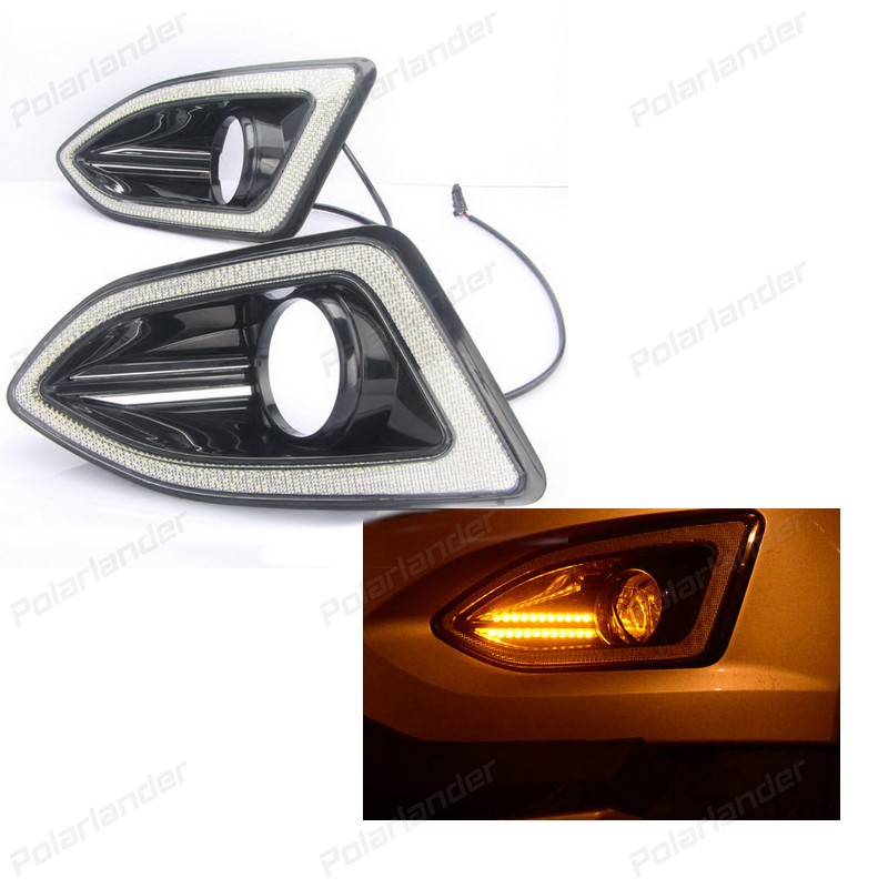 Auto Parts DRL for F/ord e/dge 2015 12V LED Guiding Daytime Running Light Car Styling Lamps Fog Lights 2 pcs auto accessory drl for f ord k uga or e scape 2013 2015 car styling daytime running lights