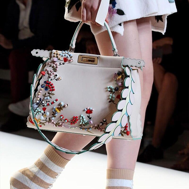 2018 сезон весна-лето вышивка заклепки котенок сумка модные сумки мешок сумка  женская сумка на плечо da794f5ae4e