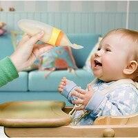 Bébé Serrant Alimentation Cuillère Silicone Bébé bébé Alimentaire alimentation à base de Céréales Bouteille Formation Feeder Vaisselle Fournitures