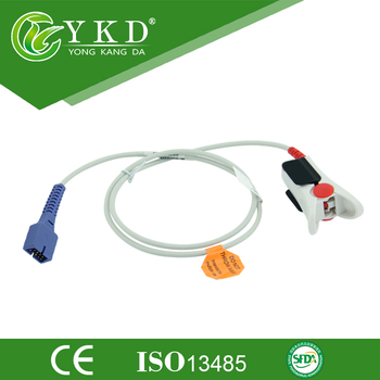 цена на 5PCS/ LOT Free Shipping For 9Pin Oximax Reusable Adult Finger Clip SpO2 Sensor Probe,1M