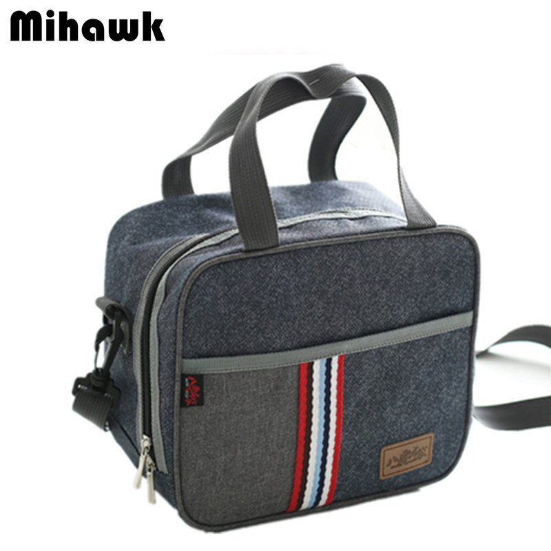 Oxford Shoulder Strap Lunch Bag insulated Thermal Cooler Tote Picnic Drink Food Storage Bento Box Leisure Accessories Items
