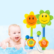 SLPF Baby Funny Water Game Bath Toy Kids Bathing Tub Sunflower Shower Faucet Spray Water Swimming Bathroom Toys For Children L08 1pcs new baby funny water game sunflower baby shower faucet spray water toys for kids