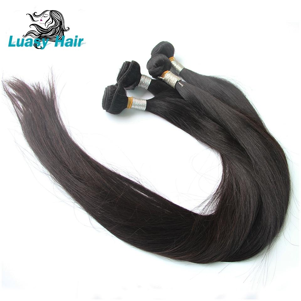 Luasy Straight 30 Inch 32 34 36 38 Inch 40 Inch Bundles Malaysian Virgin Human Hair Weave Bundles Long Hair Extensions 1/3/4 PCS