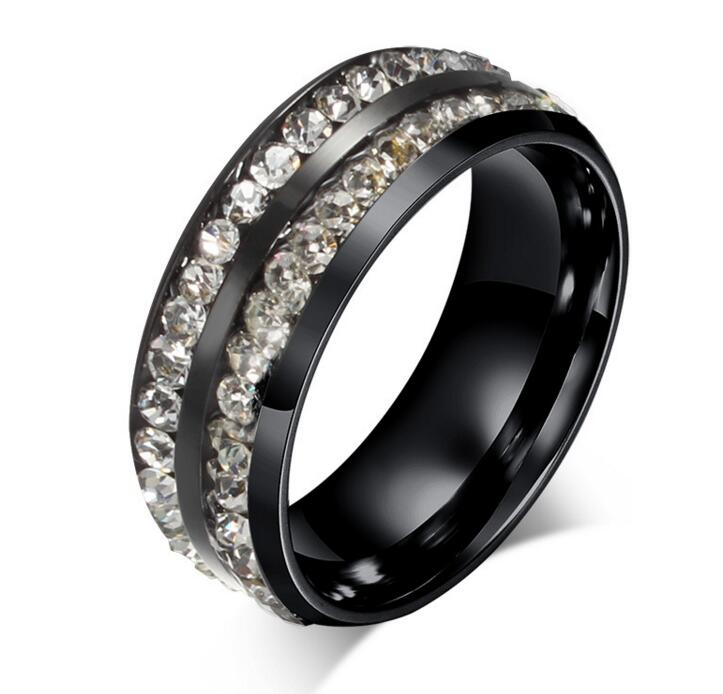 New Top Quality Famous Brand Carter Rings For Women Titanium Stainless Steel Rings Steel Black Plated