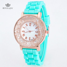 RINNADY New Fashion Brand Silicone Women Watch Quartz Casual Watch Style Women Dress Watch For Women Girls Lady Relogio Feminino