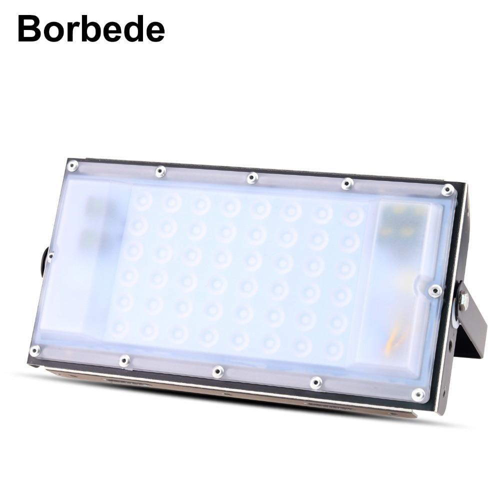 Borbede 50 watt AC85-265V LED Flutlicht Im Freien Wand Garten Lichter Wasserdicht Platz Scheinwerfer Flutlicht