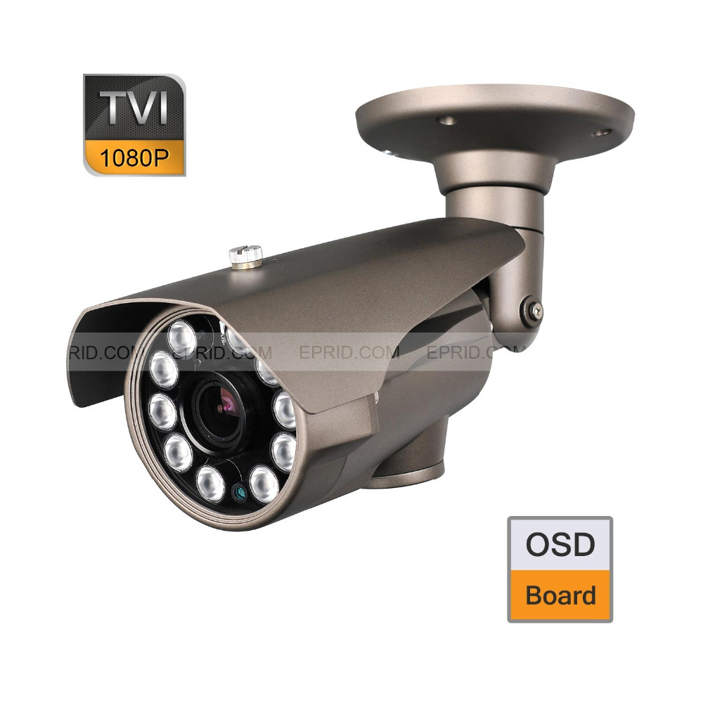HD-TVI 1080P 2.0MP 10PCs Super-LED 2.8-12mm Lens CCTV Camera OSD Board