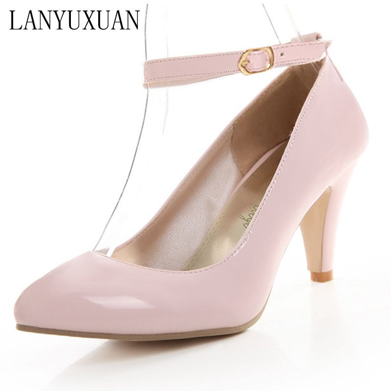 LANYUXUAN  New Zapatos Mujer Women Shoes High Heel Fashion Women shoes Pumps High Heels Platform Party Dance Shoes Woman 01-8 2017 rushed real pu zapatos mujer tacon women pumps fshion women s pumps ultra high heels platform party dance shoes woman 369