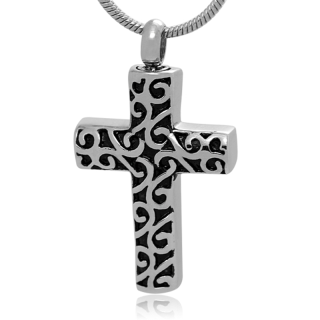 Lace Cross Urn Pendant