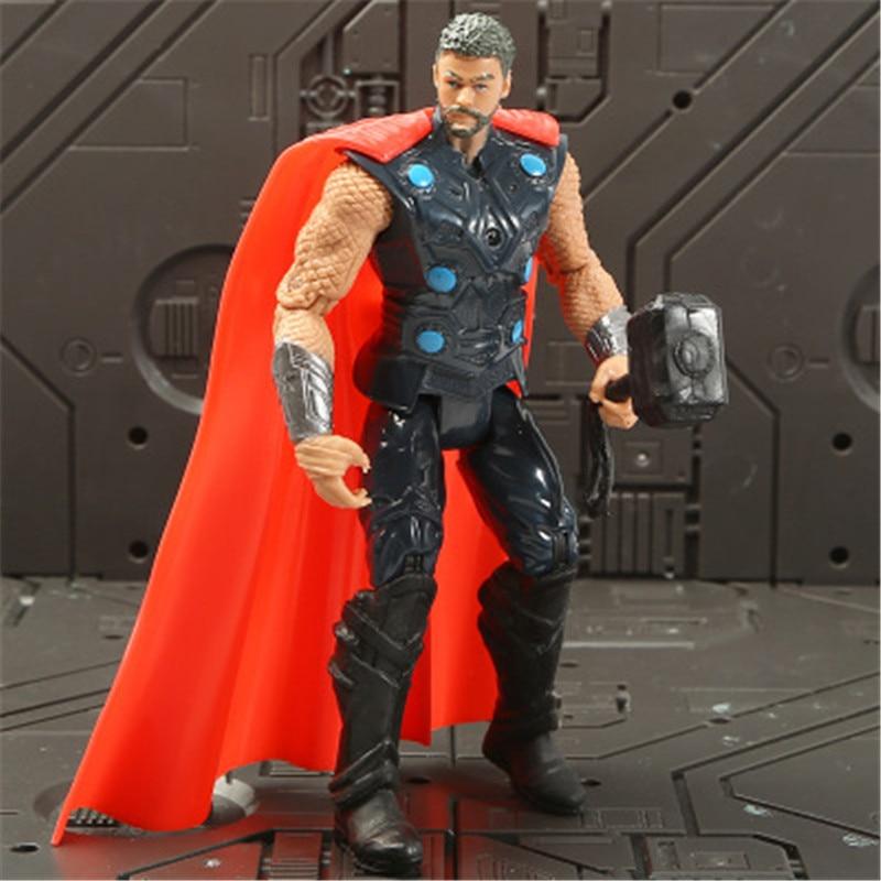 Marvel Мстители 3 Бесконечность войны фильм Аниме Супер Герои Капитан Америка, железный человек, Халк Тор супергерой Фигурки игрушки - Цвет: thor