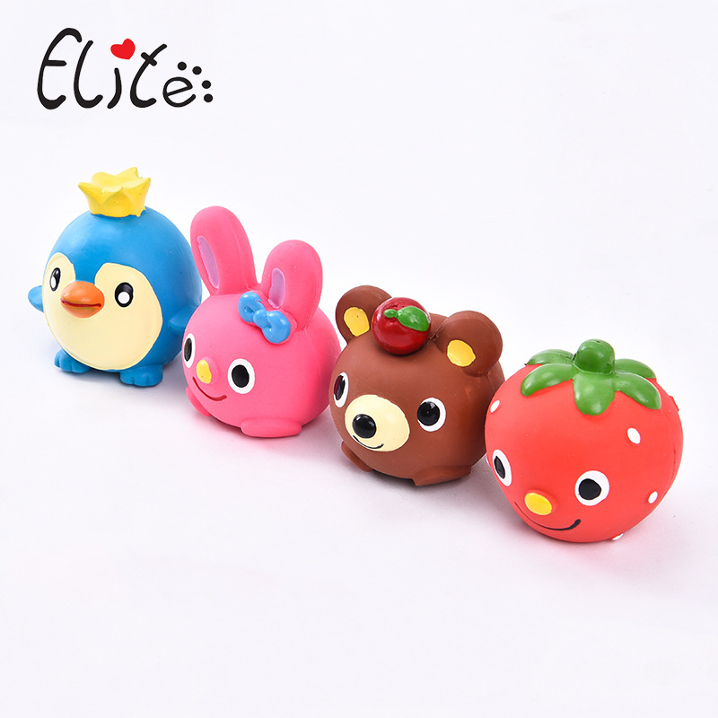 Elite Cute Dog Toys Stuffed Squeaking Animals Pet Toy Nontoxic Bite Resistant For Puppy Cat Chew Sound Squeaker Squeaky Toy