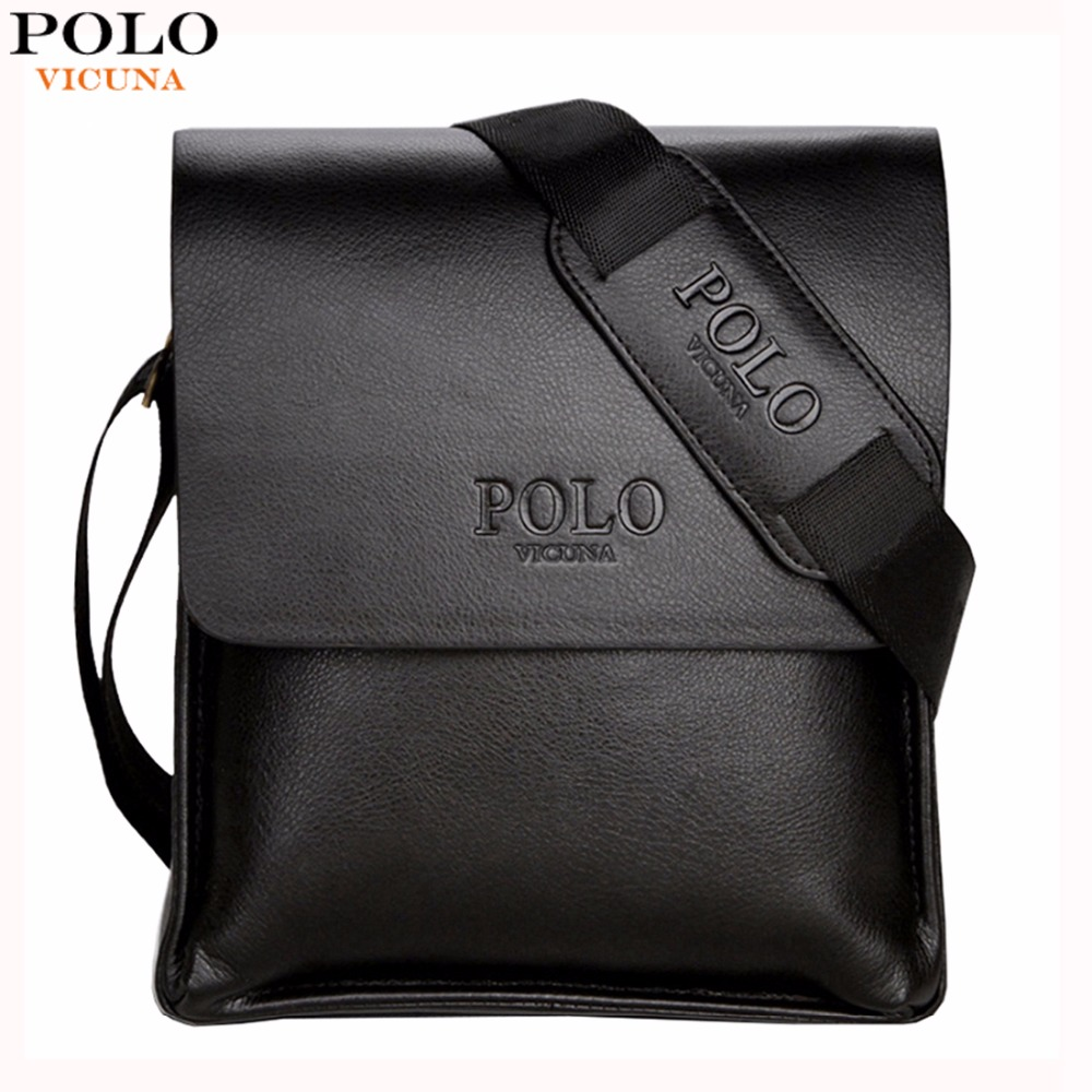 VICUNA POLO Famous Brand Leather Men s