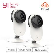 Kamera YI 720P 2 szt. Kamera bezpieczeństwa noktowizyjna kamera wifi IP/sieć bezprzewodowa nadzór sowa wersja międzynarodowa YI Cloud