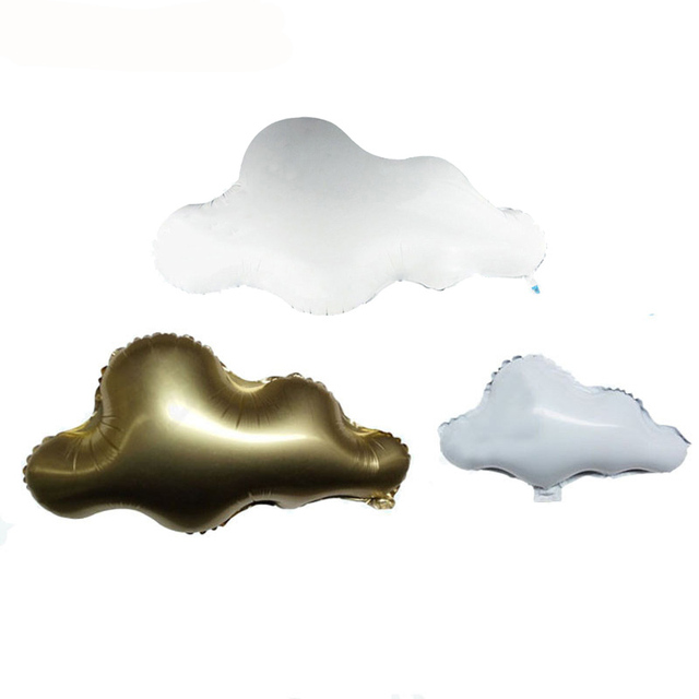 1pcs White Cloud Foil Ballon Kids Birthday Party Decoration Clouds Helium Globos Balloons Wedding Baby Shower Party Supplies