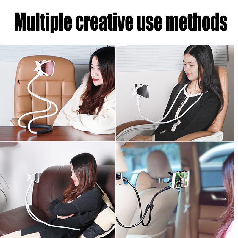 Lazy Neck Decorative Shelves Bed Phone Holder Stand Universal 360 Degree Rotation Desk Mount Anti-skid Bracket For Phone