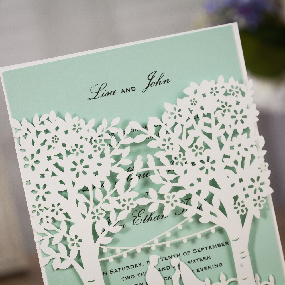 WISHMADE White wedding card Elegant Engagement Card Bride And Groom ...