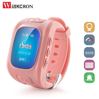 Hot! Kid GPS Tracker GPS watch D5 With SOS Emergency Anti Lost Smart Mobile Phone App Bracelet Wristband For Android IOS Phone