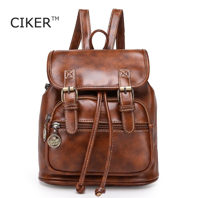 7376bd2bd9b CIKER Fashion women fashion designer brand backpacks vintage leather ...
