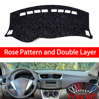 Rose Pattern For Nissan Sylphy Sentra nismo 2012 2013 2014 2019 Car Stickers Car Decoration Car Accessories Interior Car Decals