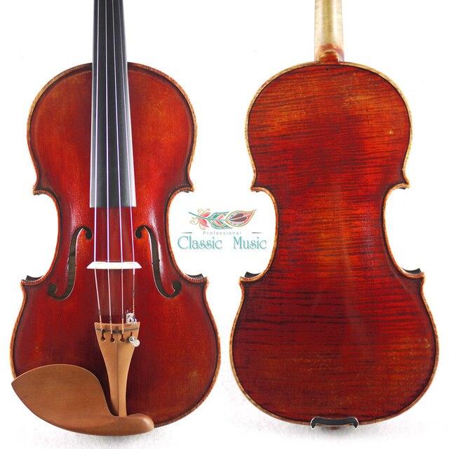 トップハンドオイルワニス、赤mendelssohnバイオリン1720 (ストラディバリウス)。暖かいサウンド、号1397バイオリン、アンティークバイオリン、美しいカエデ
