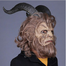Beauty and the Beast Mask Overhead hood La Belle Et Bete masks costume animal scary horror Marvel Heroes DC prop