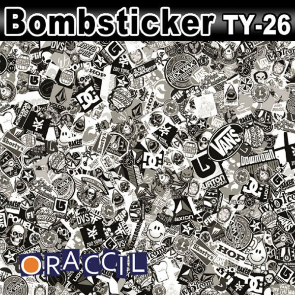 Popular Cartoon Design 50x150cm Jdm Bomb Sticker Accessories Graffiti Vinyl Film Motorcycle Car Body Wrap F