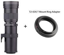Lightdow 420-800มิลลิเมตรF/8.3-16ซุปเปอร์เทเลโฟโต้คู่มือการใช้งานเลนส์ซูม+ T2เมาแหวนอะแดปเตอร์สำหรับCanon EOS DSLRกล้องEF EF-Sเมาท์เลนส์