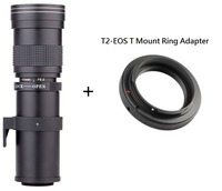 Lightdow 420 800mm F/8.3 16 Super Telephoto Manual Zoom Lens +T2 Mount Ring Adapter for Canon EOS DSLR Camera EF EF S Mount Lens