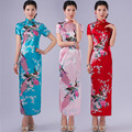 Hot Sales 6 Color Traditional Long Qipao Dress Long Sleeve Party Chongsam Chinese Clothing for Women
