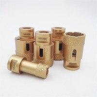 5pcs Set Vacuum Brazed Diamond Drilling Bits For Granite Marble M14 Thread Drill Bits Dia 20