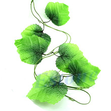Hogar Paradise Wholesale 10x Artificial Grape Leaves Garland Ivy Vines Rattan Wedding Garden Floral Decor Selling