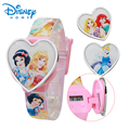 100% Genuíno relógio relojes Relógio Das Crianças Princesa Da Disney Relógios Crianças relógio de Pulso Digital Presente Da Menina 89004-83